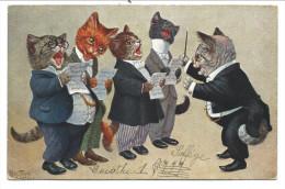 CPA - Fantaisie - Illustrateur Arthur THIELE - Chats Humanisés - Chorale - Orchestre - Cat - Katze  // - Thiele, Arthur