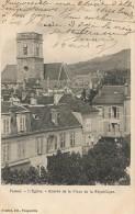 VESOUL-L'EGLISE-ENTREE DE LA PLACE DE LA REPUBLIQUE-boucherie - Vesoul