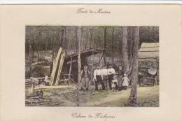 CPA Animée (92) MEUDON La Forêt Cabane De Bûcherons Métier - Meudon