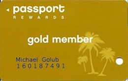 Crystal Palace Casino Nassau Bahamas Gold Member Slot Card  (Printed) - Casino Cards