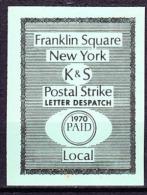 US Postal Strike (1970) K & S Despatch Stamp - Altri