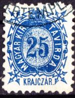 Hungary 25k Telegraph Stamp Used. - Telegraphenmarken