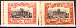 Paraguay 1910 UPU Issue 2 Proofs On Card Stock, 2p And 20p. - Paraguay