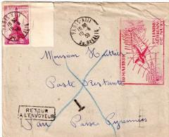 Lettre 1er Liaison 1939 Paris  Bordeaux - Autres - Europe