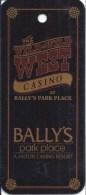 Bally´s Wild Wild West Casino  Atlantic City, NJ Key Ring Dangle - Casino Cards