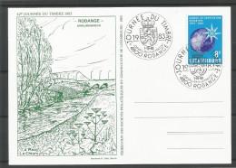 CARTE COMMEMORATIVE 42e JOURNEE DU TIMBRE RODANGE 1983 TP N° 1073 (CACHET POSTAL DE RODANGE) (SCAN VERSO) - Cartes Commémoratives