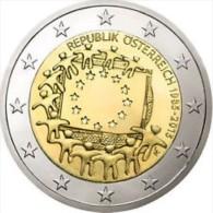 Oostenrijk  2015    2 Euro Commemo 30 Jaar Europese Vlag (gezamelijke Munt)      UNC Uit De Rol  UNC Du Rouleaux !! - Austria