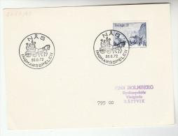 1972 SWEDEN Stamps  INGMARSSPELN EVENT Pmk COVER (card) HORSE CARRIAGE - Sweden