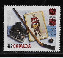 CANADA, 1992.  # 1443,  NATIONAL HOCKEY LEAGUE : 1917-1942, Skates, Stick, Puck,  Player,  Mnh - Nuovi