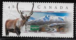 CANADA, 1998.  # 1739,   SCENIC HIGHWAYS:  DEMPSTER  HWAY    YUKON   MNH  CARIBOU, GLACIER, ROAD,   MNH - 1952-.... Règne D'Elizabeth II