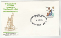 1972 Aberteifi GB FDC WELSH EISTEDDFOD Music HARP Stamps Cover, Theatre - FDC