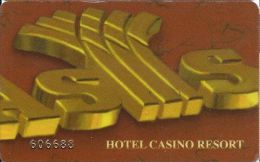 Oasis Casino Slot Card Palestine Territory With 31737-4 On Reverse - Casino Cards
