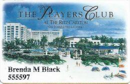Ritz Carlton Casino San Juan Puerto Rico Player´s Club Card 10/06 - Casino Cards