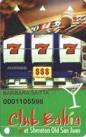 Club Bahia At Sheraton Old San Juan Puerto Rico Slot Card - Casino Cards