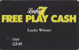 Crystal & Seaport Casinos Aruba - Lucky 7 Free Play Cash - Lucky Winner Card - Casino Cards