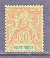 MARTINIQUE  42  PERF  14 X  13 1/2    * - Martinique (1886-1947)