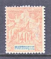 MARTINIQUE  47  PERF  14 X  13 1/2    * - Martinique (1886-1947)