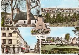 SAINT-VITH (4780) : CPSM MULTIVUES Colorisée (5 Vues). - Saint-Vith - Sankt Vith
