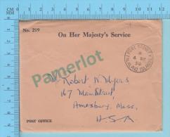 Port Stanley ( O.H.M.S. Post Office Envelope # 219, Cover Port Stanley 1958 Falkland Islands - Falkland