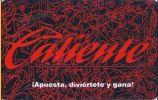 Caliente Mexican Race & Sports Book 2001 Pocket Calendar Card - Casino Cards