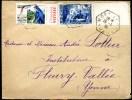 81326 - 1 TP BDf, Tarif  50 C Et Vignette, Cad Type Recette Auxiliaire MONTILLOT YONNE  1 1936 TB - 1921-1960: Periodo Moderno