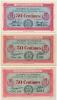 1914-1918 // C.D.C. // MOULINS & LAPALISSE // 50 Centimes X 3 - Chamber Of Commerce