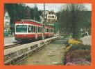 SCHWEIZ,   BAHN - SUISSE, TRAIN - Pendelzug Der Waldenburgerbahn Fährt In Die Station Niederdorf Ein - Gares - Avec Trains