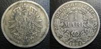 ALLEMAGNE 1 Mark Empire 1881 Darmstadt  H - [ 2] 1871-1918: Deutsches Kaiserreich