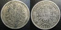 ALLEMAGNE 1 Mark Empire 1881 Darmstadt  H - 1 Mark