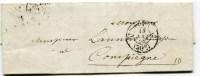 PARIS  Cachet Taxe 30C Route  N°2  Sur  1 LAC De 1855 - 1849-1876: Classic Period