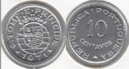 Saint Thomas And Prince 10 Centavos 1971 KM15a UNC - Santo Tomé Y Príncipe