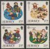 Jersey 1989 Mi 476 /9 ** Designs Showing Clay Plaques / Figurengruppen Aus Knetmasse - Kinderspiele - Kindertijd & Jeugd
