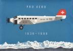 50 Ans Pro Aero 19.V.1988.  5 Vols, Lettres Recommandées,cachets D´arrivée.  Cote 25,00 + 2 Cadeaux - Altri Documenti