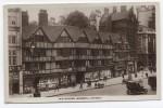 ENGLAND ~ RPPC Old Houses HOLBORN London 1931 Sea Post S.S. Leviathan Cancel - London