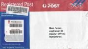 Australia 2014 Browns Plains Barcoded Registered Postal Stationary Postage Paid Cover - Postwaardestukken