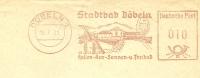 Firma Cover With Illustrated Meter Stadbad Dobeln 18/7/1961 - Vakantie & Toerisme