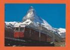 Bahn - Train Chemins De Fer-Zermatt  Gornergratbahn - Valais Suisse - Wallis Schweiz - Trains