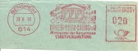 Nice Cut Meter Bensheim Mittelpunkt Der Bergstrasse 20/8/1963 - Vakantie & Toerisme