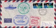 "ANTARCTIC, GERMANY, FS ""Polarstern"", 19.12.1987,  3 Cachets ANT-VI + UNI Ghent  !! 23.10-01 - Antarctische Expedities"