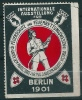 Vignette Exposition BERLIN 1901 Pompiers - Erinnofilia