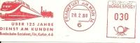 Nice Cut Meter Uber 125 Jahre Dienst Am Kunden Bundesbahn, Frankfurt 26/2/1968 - Treinen