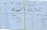 Facture Papier Entête Grande-Bretagne Angleterre London 1857 - Royaume-Uni