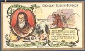 Chromo Chocolat Guerin-Boutron Les Bienfaiteurs De L´Humanité - ROGER BACON Moine Anglais Optique Lunettes - Guerin Boutron