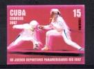 CUBA 2007 Yt 4470 IMPERF ERROR MNH PROOF Without Gum Sport Escrime, Fencing - Escrime