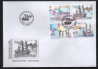 Cabo Verde 2006 - Rota Internacional De Escravos Slaves Sklaverei Esclavage Bateau Boot Ship Galère Slavery 4 Val. FDC - Isola Di Capo Verde