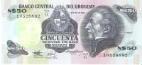 Uruguay  - Pick 61A - 50 Nuevos Pesos 1989 - Unc - Uruguay