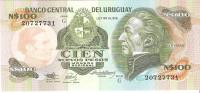 Uruguay  - Pick 62A - 100 Nuevos Pesos 1987 - Unc - Uruguay