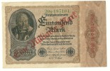 Germany Reichsbanknote 1000 Mark, Overprint 1.000.000.000 ,1 Billion  Mark  ND(1923 Old 1922)P-113a AXF - [ 4] 1933-1945 : Troisième Reich