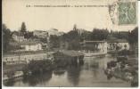 CHATEAUNEUF , Vue Sur La Charente Prise Du Pont , 1924 , CPA ANIMEE - Chateauneuf Sur Charente