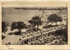 Marche-fano Citta Veduta Spiaggia Particolare Animatissima Anni 40 - Fano